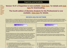 Decision Analysis With Supertree PDF Download