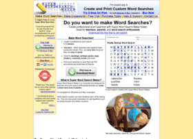 superwordsearchmaker.com