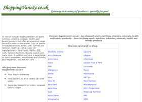 supplements-protein-creatine-whey.shoppingvariety.co.uk