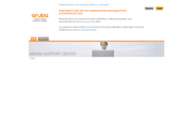 support.arubanetworks.com