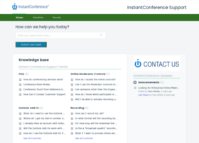 support.instantconference.com