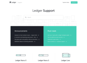 support.ledgerwallet.com
