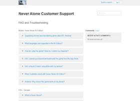 support.neveralonegame.com