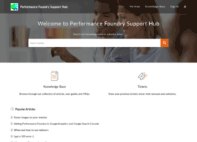 support.performancefoundry.com