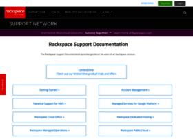 support.rackspace.com