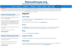support.rescuegroups.org