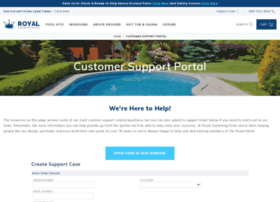 support.royalswimmingpools.com