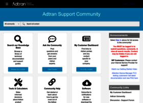 supportforums.adtran.com