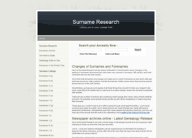 surnameresearch.co.uk
