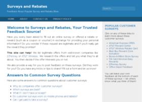 surveysandrebates.com