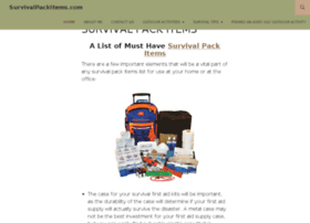 survivalpackitems.com