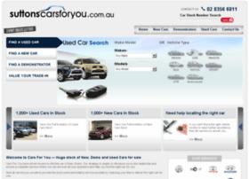 suttonscarsforyou.com.au