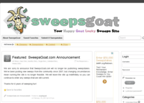 sweepsgoat.com