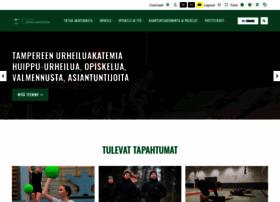 tampereenurheiluakatemia.fi