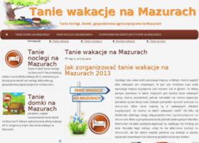taniewakacje-na-mazurach.com.pl