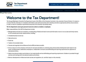 taxdepartment.gwu.edu