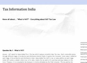 taxinformationindia.com