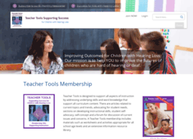 teachertools.successforkidswithhearingloss.com