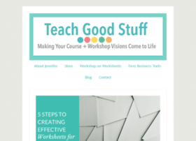 teachgoodstuff.com
