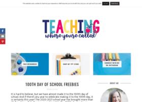 teachingwhereyourecalled.com