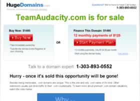 teamaudacity.com