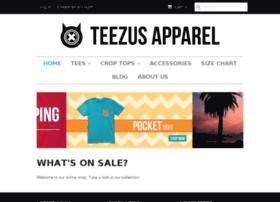 teezusapparel.com
