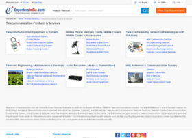 telecommunications.exportersindia.com