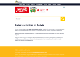 telefonos-bolivia.com
