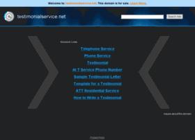 testimonialservice.net
