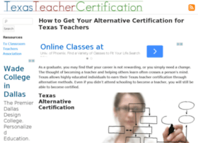 texasteachercertification.net