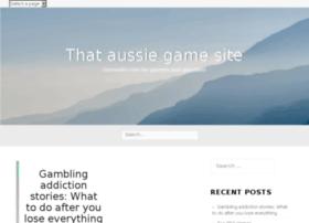 thataussiegamesite.com.au