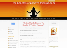 The-benefits-of-positive-thinking.com