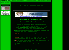 the-master-list.com