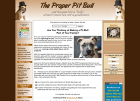 the-proper-pitbull.com
