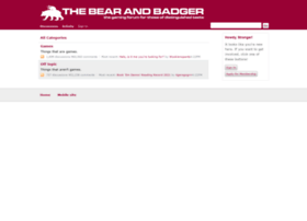 thebearandbadger.co.uk