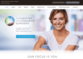 thecenterforcosmeticsurgery.net
