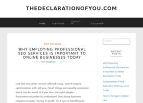 thedeclarationofyou.com