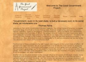 thegoodgovernmentproject.org