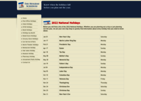 theholidayschedule.com