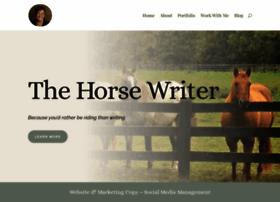 thehorsewriter.com