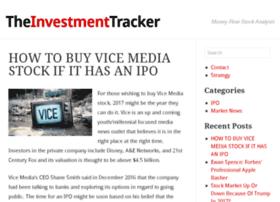theinvestmenttracker.com
