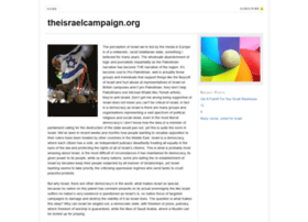 theisraelcampaign.org