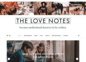 thelovenotesblog.com