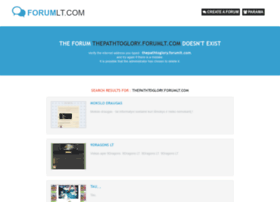 thepathtoglory.forumlt.com