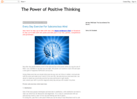 Thepower-of-positive-thinking.blogspot.com