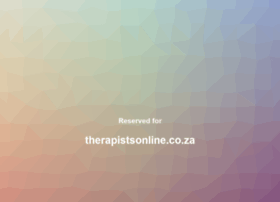therapistsonline.co.za