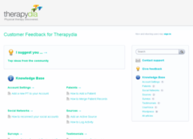 therapydia.uservoice.com