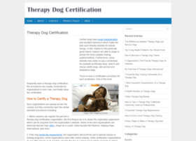 therapydogcertification.com
