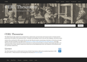 thesaurus.cerl.org