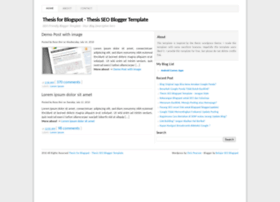thesis-seo-bloggertemplate.blogspot.in